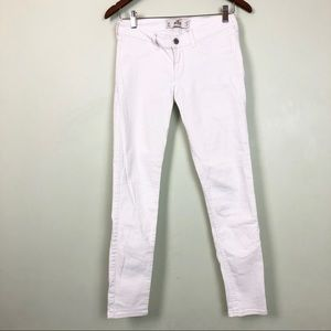 Hollister white skinny jeans size 27
